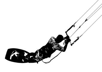 Kitesurfing logo/illustration