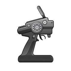 RC Car Radio Control Icon on white background. vector