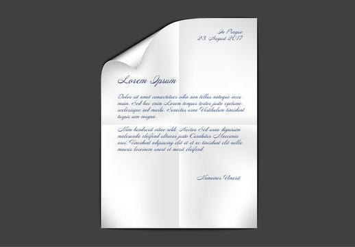 Handwritten Letter Vector Mockup