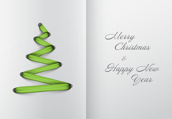 Christmas Card with Shoelace Illustration 1