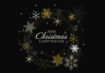 Metallic Snowflake Christmas Banner 2