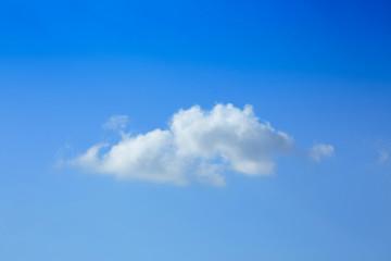 one cloud on clear blue sky