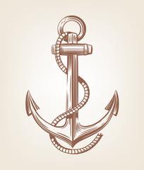 Black Nautical Anchor