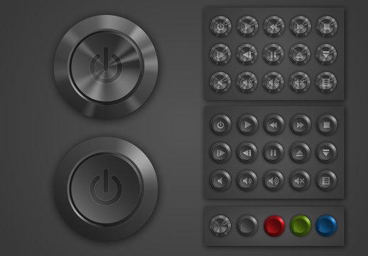 Multimedia Equipment Button Set