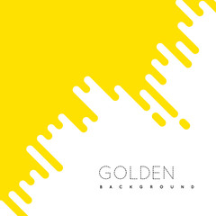 Golden irregular rounded lines background.