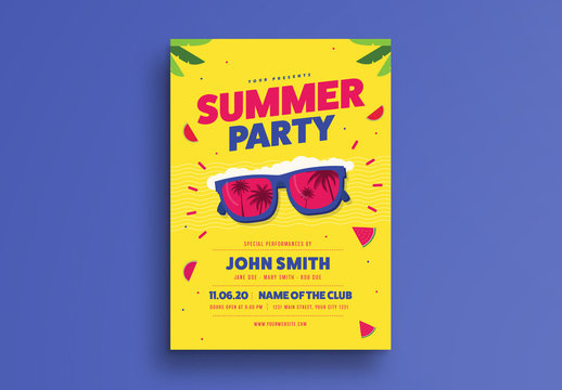 Bright Summer Event Flyer Layout