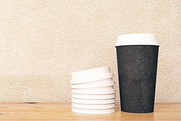 No logo black coffee cup