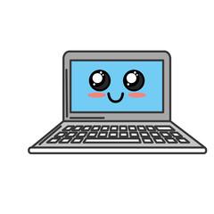 kawaii cute happy compueter technology