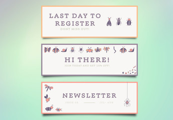 3 Nature Themed Marketing Email Headers