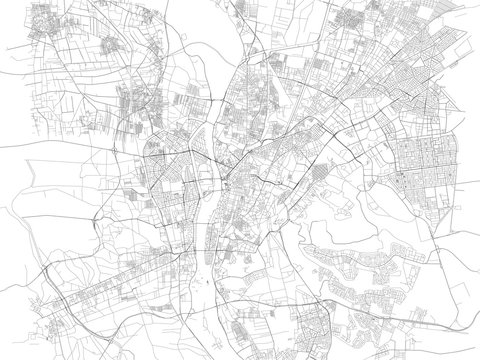 Cartina di Cairo, città, strade, Egitto