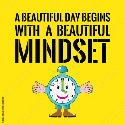 """A Beautiful Day Begins With A Beautiful Mindset Quote """"Motivatio..."""