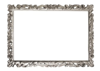 Silver frame for paintings, mirrors or photos