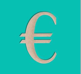 Paper Cut Euro Sign