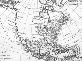 古地図 北米大陸