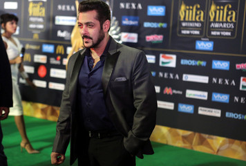 Actor Salman Khan poses for a picture on the Green Carpet at the International Indian Film Academy Rocks show at MetLife Stadium in East Rutherford
