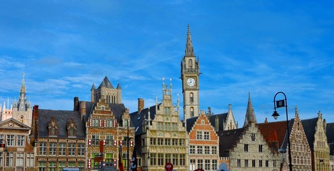 Central Ghent, Belgium Skyline