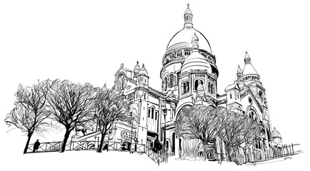 Acrylic Prints Art Studio Basilica of the Sacred Heart, Paris, France