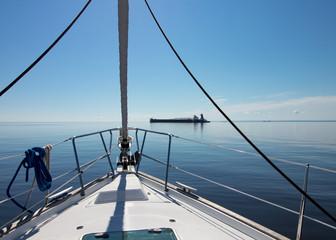 Sailboat in calm water