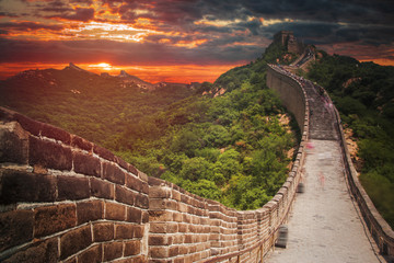 Photo sur Aluminium Muraille de Chine great Chinese wall