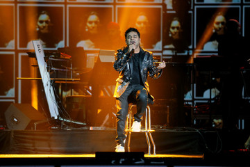 Musician AR Rahman performs during the International Indian Film Academy Rocks show at MetLife Stadium in East Rutherford