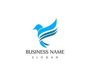 Dove Bird Fly Logo