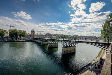 Paris bridge across the river.