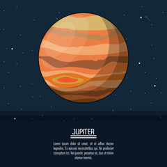 colorful poster with planet jupiter