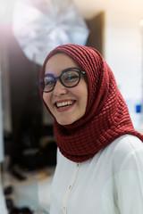 Portrait of businesswoman with hijab.