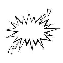 retro burst icon over white background pop art concept vector illustration