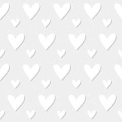 Heart seamless pattern background.