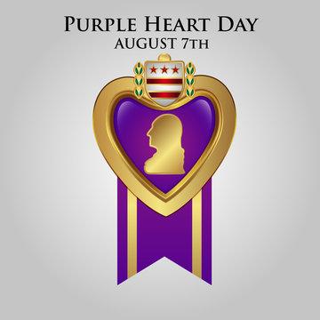 Purple Heart Appreciation Day background