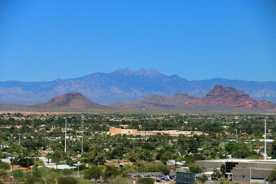 Four Peaks over Scottsdale, Arizona