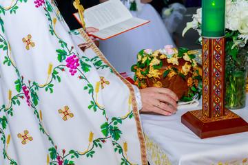 church crown on the altar