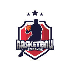 Basketball Sport Logo Emblem, Logo Template Designs