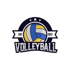 Volleyball Sport Logo Emblem, Logo Template Designs