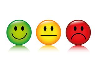 smiley bewertung positiv neutral negativ
