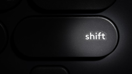 Shift Button on Computer Keyboard