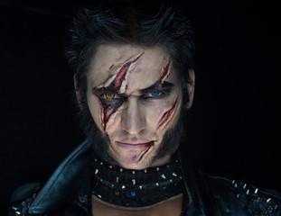 Professional make-up werewolf Wolverine