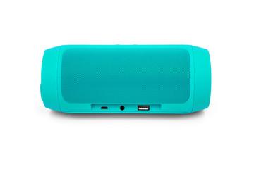 Bluetooth portable speaker on white
