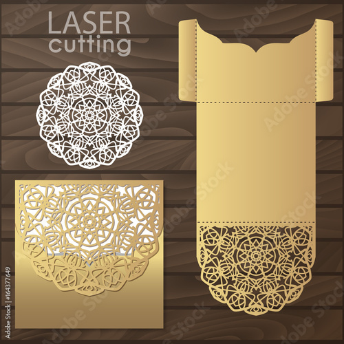 Die laser cut wedding card vector template invitation envelope die laser cut wedding card vector template invitation envelope wedding lace invitation mockup stopboris Image collections
