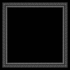 Old Antique frame Isolated on black background