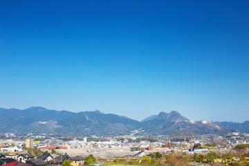 View of Tagawa City in Fukuoka Prefecture, Japan
