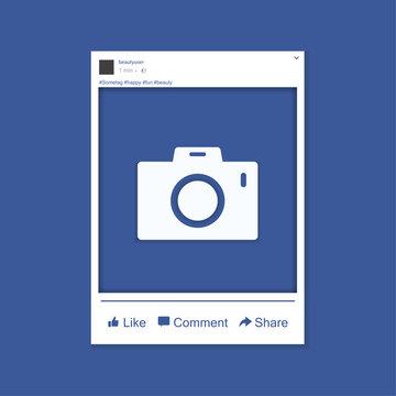 Social network photo frame vector illustration. Mock up Vector illustration