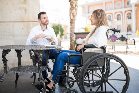 Disabled woman on wheelchair dating