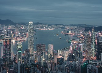 Victoria Harbour Night View