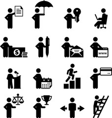 Business Pros Icons - Black Series