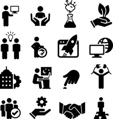 Business Startup Icons - Black Series