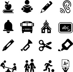 Early Learning Icons - Black Series