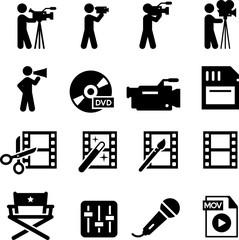 Film Production Icons - Black Series