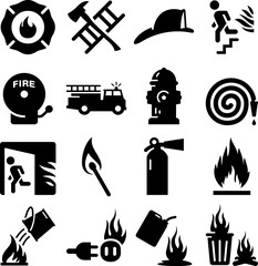 Fire Icons - Black Series